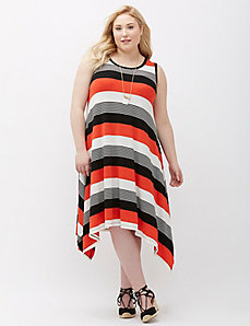 Shark-Bite Hem Dress