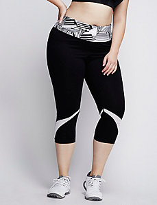 Cooling Capri Legging with Mesh