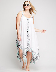 Trapeze Cover-up with Handkerchief Hem