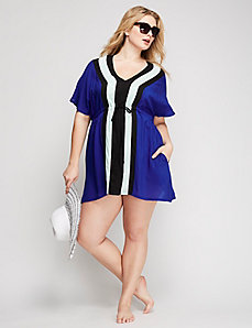 Bold Stripe Cover-Up