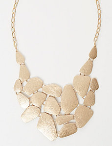 Plated Bib Necklace