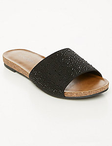 Embellished One-Band Slide Sandal