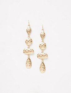 Textured Disc Linear Earrings