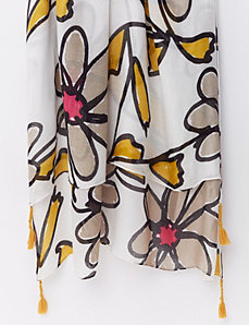 Daisy Floral Scarf