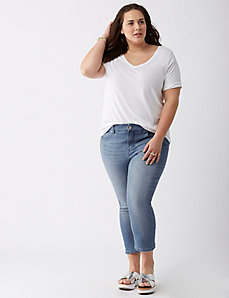 Faded Jean Capri by Melissa McCarthy