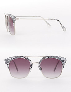 Accented Metal-Frame Sunglasses