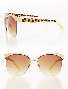 Goldtone & Tortoiseshell Sunglasses