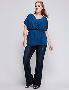 Flutter-Sleeve Knit Top