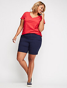 Ruched V-Neck Tee