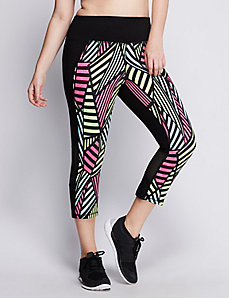 Signature Stretch Active Capri Legging with Mesh
