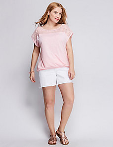 Lace-Yoke Tee