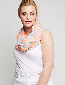 Neon Stripe Eternity Scarf
