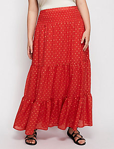 Polka dot maxi skirt