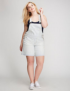 Railroad Denim Short Overalls