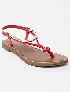 Flat Sandal with Hardware