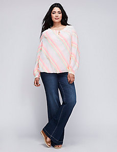 Diagonal Striped Artist Top