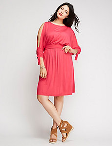 Cold-Shoulder Day Dress