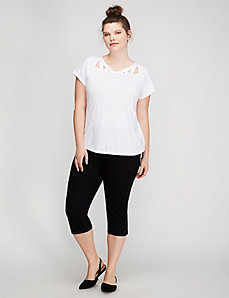 Tee with Yoke Cutouts