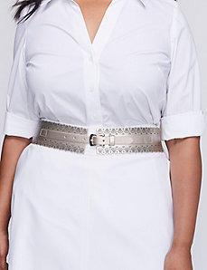 Scalloped & Perforated Stretch Belt