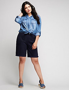 Patch-Pocket Bermuda Short