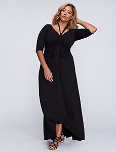 Divine Draped Maxi Dress by Kiyonna