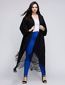 Fringe Kimono by Melissa McCarthy for Seven7