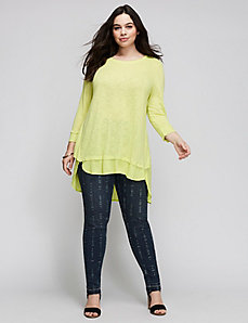 Layered Tulip-Back Tee by Melissa McCarthy Seven7