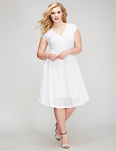 Detailed Lace Fit & Flare Dress
