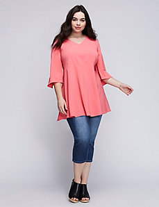 Flutter Sleeve Top by Melissa McCarthy Seven7
