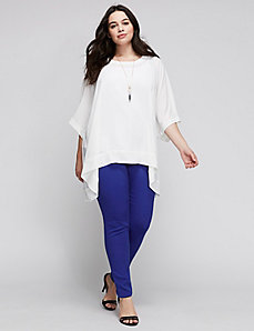 Button-Back Boxy Tee by Melissa McCarthy Seven7