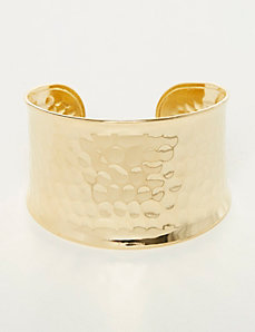 Hammered Goldtone Cuff