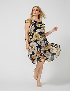 Floral Off-the-Shoulder Midi