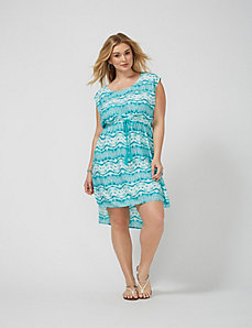 Print Cover-Up Dress