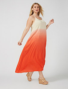Ombre high-low maxi