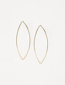 Pointed Oval Hoop Earrings