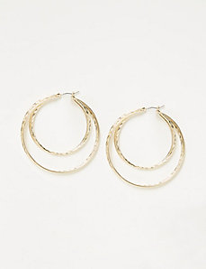 Textured Multi-Hoop Earrings