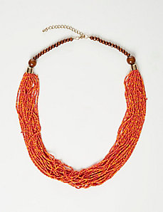 Warm-Tone Seed Bead Necklace