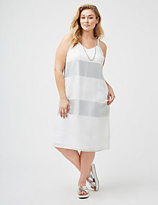 Metallic Stripe Cami Dress