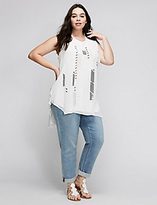 Knit Denim Girlfriend Capri by Melissa McCarthy Seven7