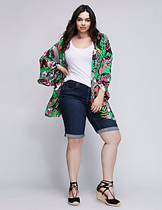 Cuffed Denim Bermuda Short by Melissa McCarthy Seven7