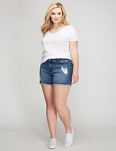Stars & Stripes Destructed Denim Weekend Short