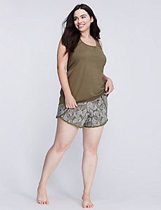 Overlap Lace-Trim Sleep Short