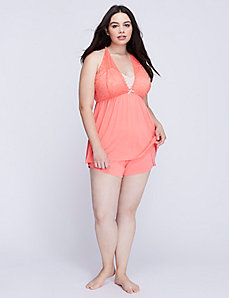 Lace Cup Cami & Short PJ Set
