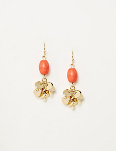 Stone & Disc Cluster Drop Earrings