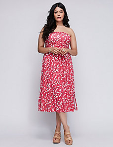 Strapless Convertible Midi Dress