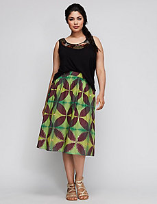 6TH & LANE Embellished Full Skirt