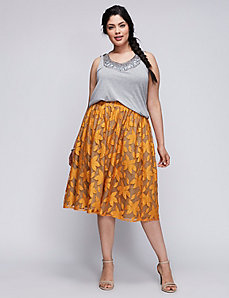 6TH & LANE Full Skirt with Lily Lace Overlay
