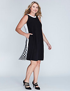 Zip Trapeze Dress