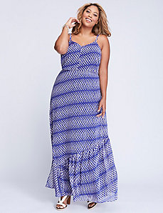 Criss-Cross Back Maxi Dress