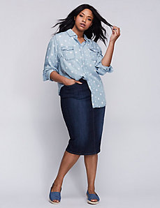Star Print Chambray Shirt